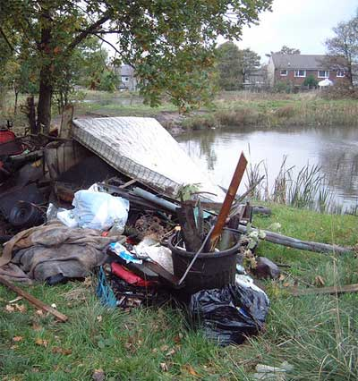 Flytipping (stock pic: not in the New Forest) © Community Spaces Fund
