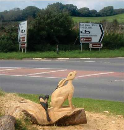 Hare sculpture at Arreton © Island 2000