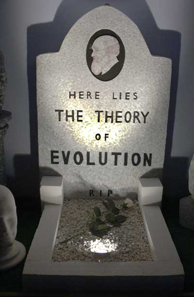 Here lies the theory of evolution