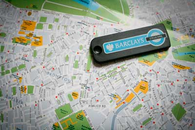 Barclay's Bike Hire map  William Hook