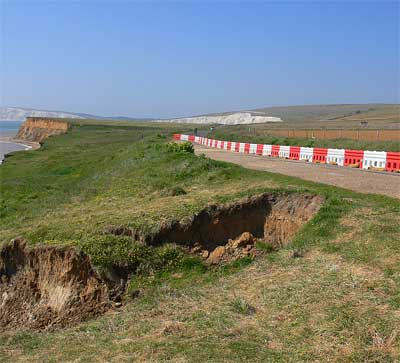 Military road landslip, Isle of Wight