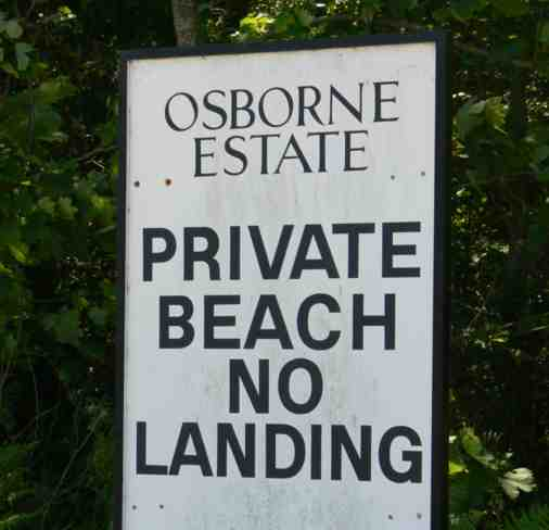 Sign at Osborne Bay