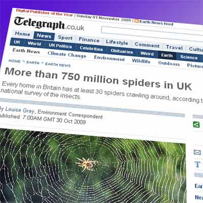 Spiders in the Telegraph